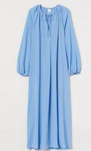 H&M CALF LENGTH BLUE LONG SLEEVES DRESS
